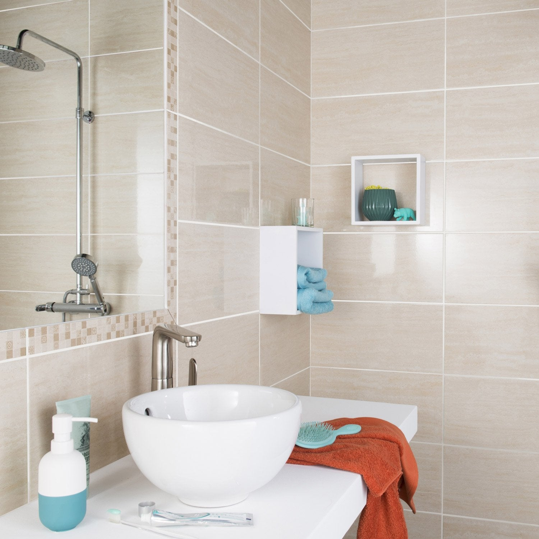 salle de bain leroy merlin beige listel. Black Bedroom Furniture Sets. Home Design Ideas