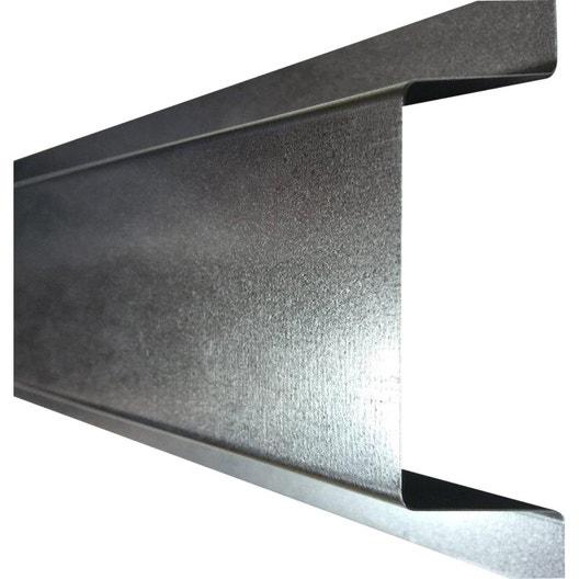 goulotte produit de finition cache cable ext 5 cm galva gris acier galvanis leroy merlin. Black Bedroom Furniture Sets. Home Design Ideas