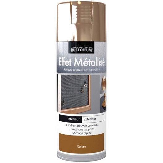 peinture a rosol effet metallis m tallis rustoleum cuivre 0 4 l leroy merlin. Black Bedroom Furniture Sets. Home Design Ideas