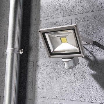 Projecteur à fixer à détection extérieur Yonkers LED intégrée 20 W = 1500 Lm, al
