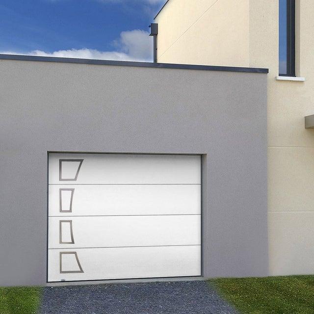 Porte De Garage Sectionnelle Acora Motorisée H200 X L240 Cm