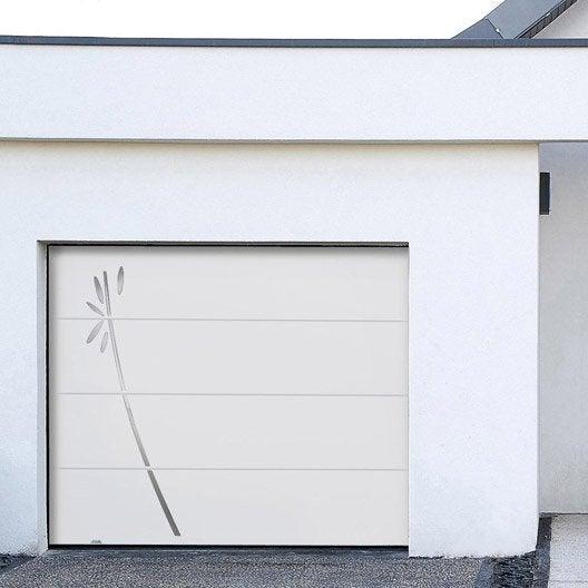 Porte de garage au meilleur prix leroy merlin - Porte de garage sectionnelle motorisee prix ...