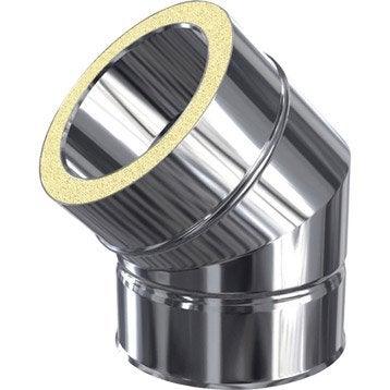 Coude pour conduit double paroi ISOTIP JONCOUXDiam.80 mm 45° Ep.30 mm