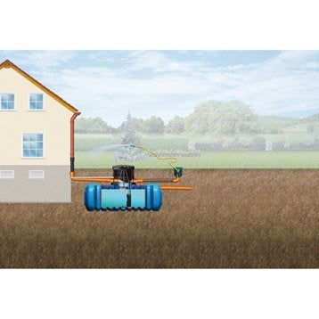 Cuve + accessoires récupération eau de pluie à enterrer Flat pour jardin 3000 l