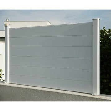 Palissade composite leroy merlin lame de terrasse for Palissade pvc blanc