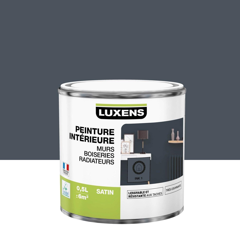 Peinture mur, boiserie, radiateur Multisupports LUXENS, ink 1, 0.5 l, satin