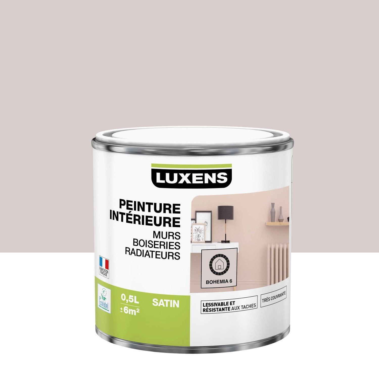 Peinture mur, boiserie, radiateur LUXENS, bohemia 6 0.5 l, satin
