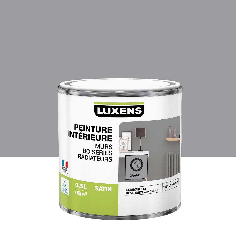 Peinture mur, boiserie, radiateur LUXENS, granit 3 0.5 l, satin