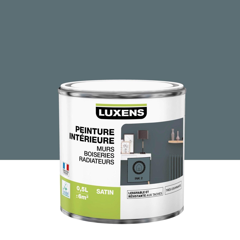 Peinture mur, boiserie, radiateur Multisupports LUXENS, ink 2, 0.5 l, satin