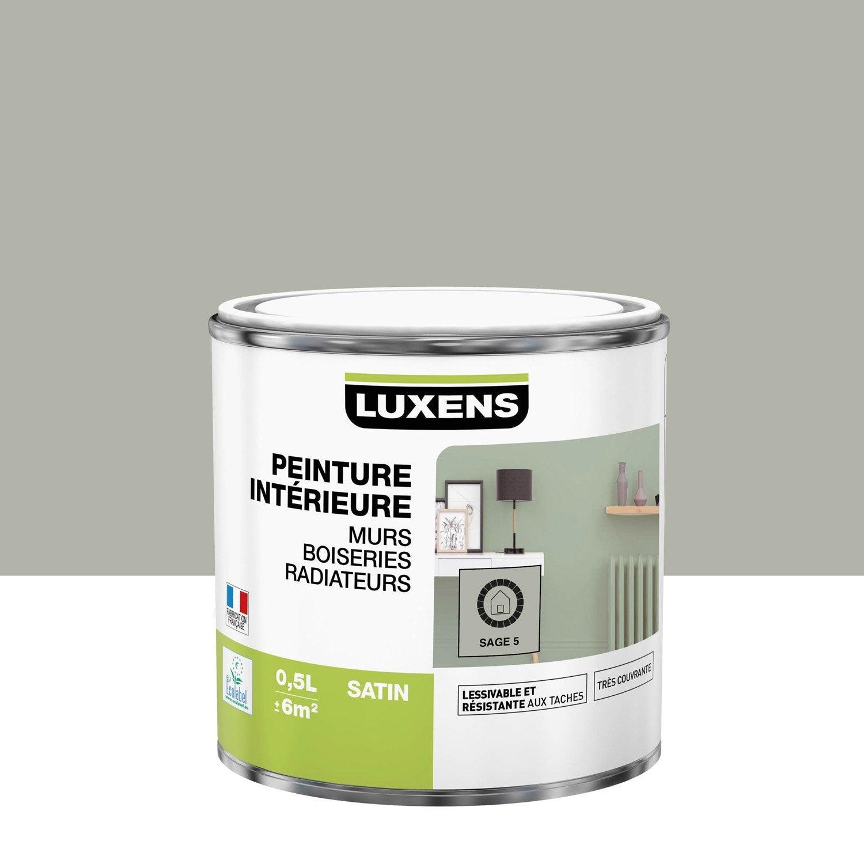 Peinture mur, boiserie, radiateur Multisupports LUXENS, sage 5, 0.5 l, satin