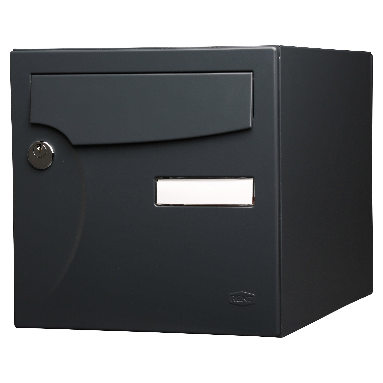 Ultra Boîte aux lettres normalisée 1 porte extérieur RENZ acier UG-08