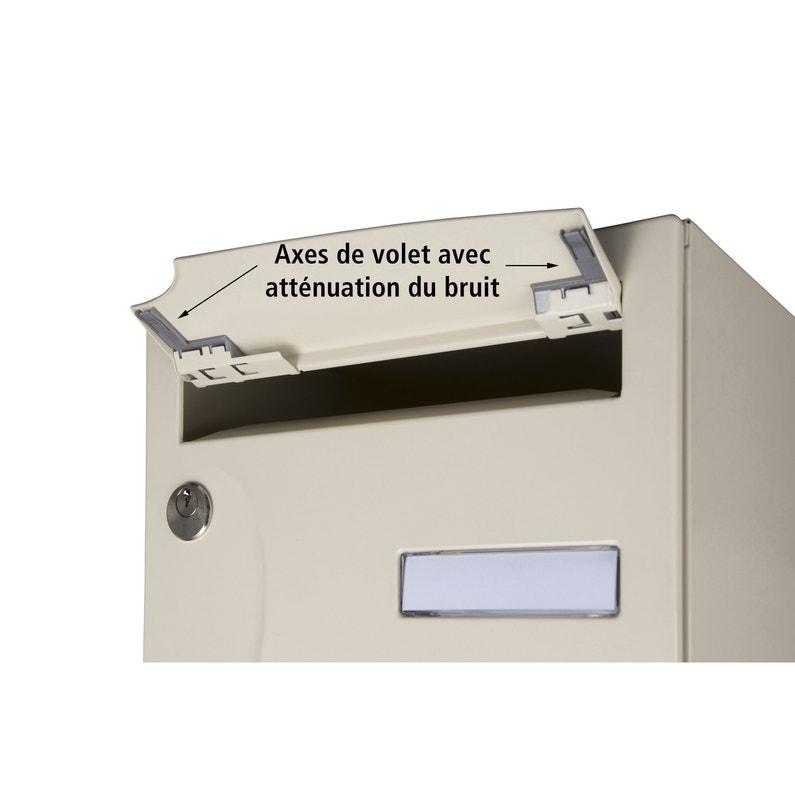 Boîte Aux Lettres Compacte 1 Porte Extérieur Renz Acier Anthracite Mat