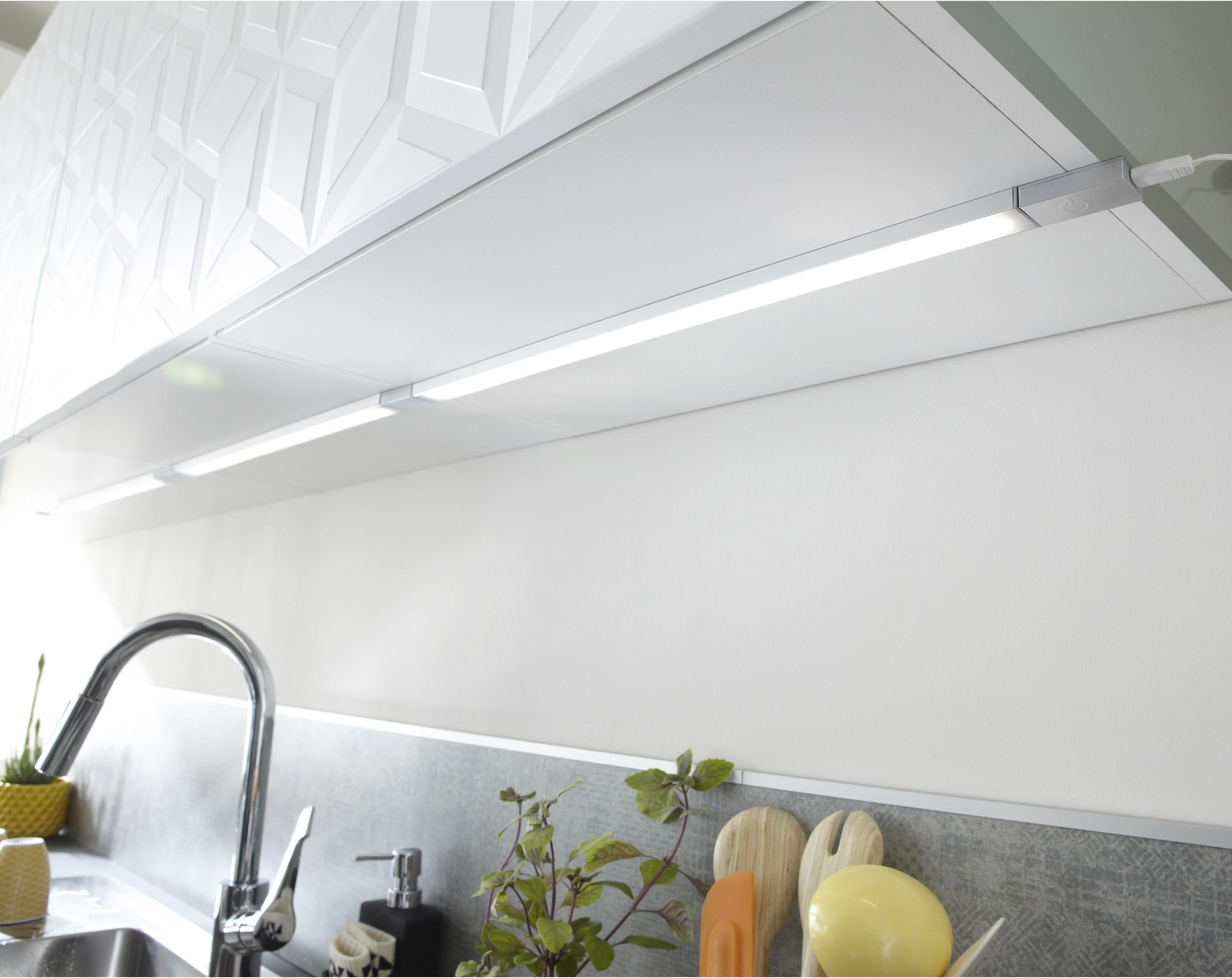 Extension réglette à fixer plate led intégrée 35 cm Rio INSPIRE 3,5 W gris