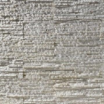 Plaquette de parement Victoria en pierre naturelle, blanc