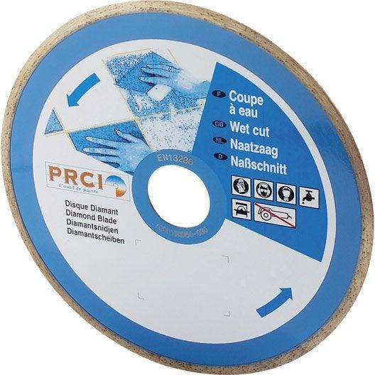 disque diamant pour mat 233 riaux de construction prci carrelec diam 180 mm leroy merlin