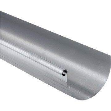 Gouttière demi-ronde zinc SCOVER PLUS dév.25 cm grise L.4 m