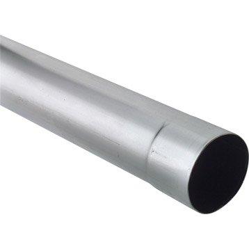 Tuyau de descente zinc gris Diam.80 mm L.2 m SCOVER PLUS