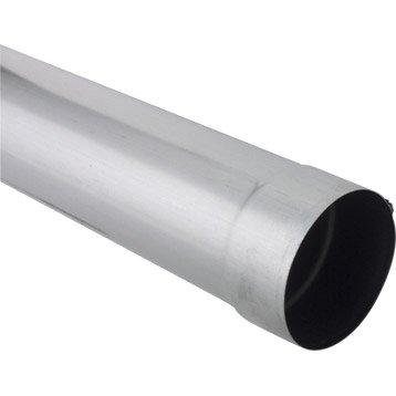 Tuyau de descente zinc gris Diam.100 mm L.2 m SCOVER PLUS