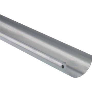 Gouttière demi-ronde zinc SCOVER PLUS dév.33 cm grise L.4 m
