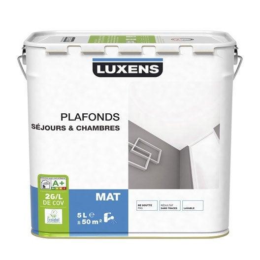 Peinture plafonds luxens mat 5l leroy merlin for Leroy merlin peinture plafond