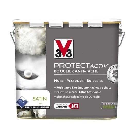 Peinture murs et plafonds v33 protect activ satin 5l leroy merlin - Peinture v33 plafond ...