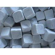 Galets dés de marbre en pierre naturelle, blanc, 20 x 20 mm, 10 kg