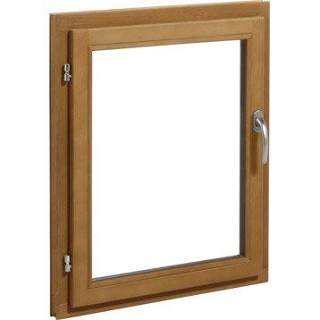 Fenêtre bois 1 vantail ouvrant à la française H.75 x l.60 cm