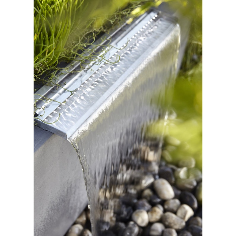Kit bassin UBBINK Niagara 60 led + pompe, gris, H.30 cm | Leroy Merlin