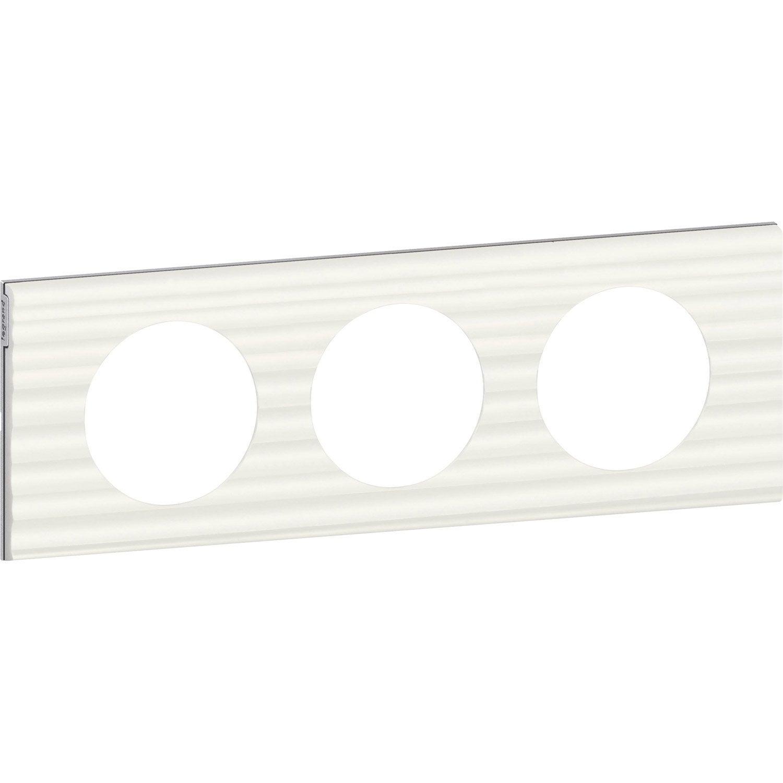 plaque triple c liane legrand cannel leroy merlin. Black Bedroom Furniture Sets. Home Design Ideas