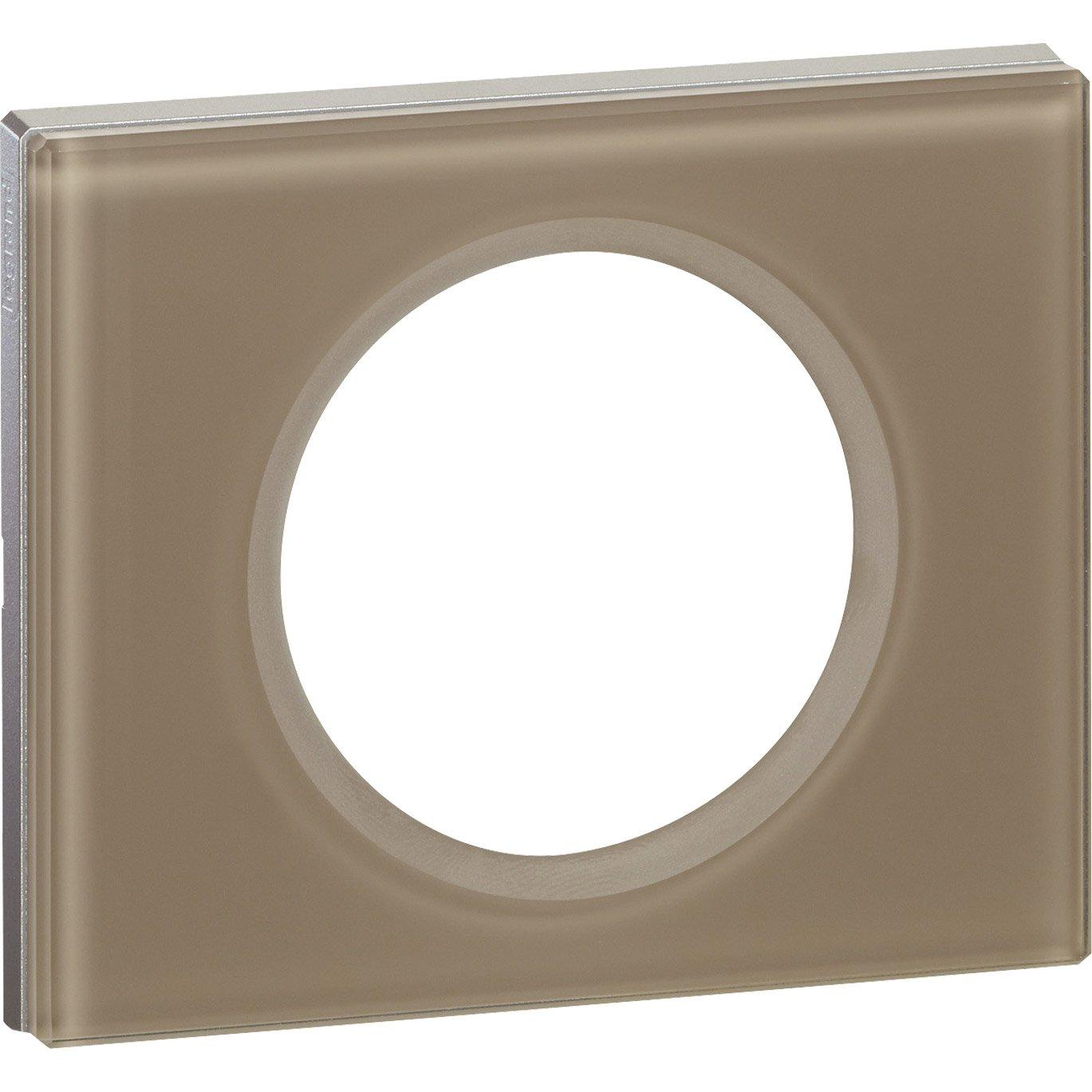 plaque c liane legrand moka brillant leroy merlin. Black Bedroom Furniture Sets. Home Design Ideas