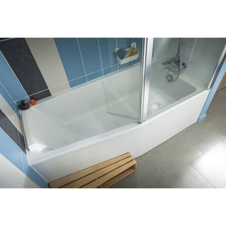 Baignoire L.170x l.85 cm, JACOB DELAFON Sofa bain et douche, vidage ...