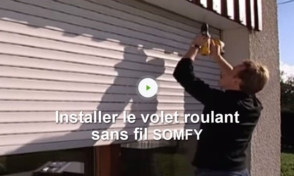 Motorisation de volets roulants connect s sans fil somfy for Porte de garage enroulable pose sous linteau