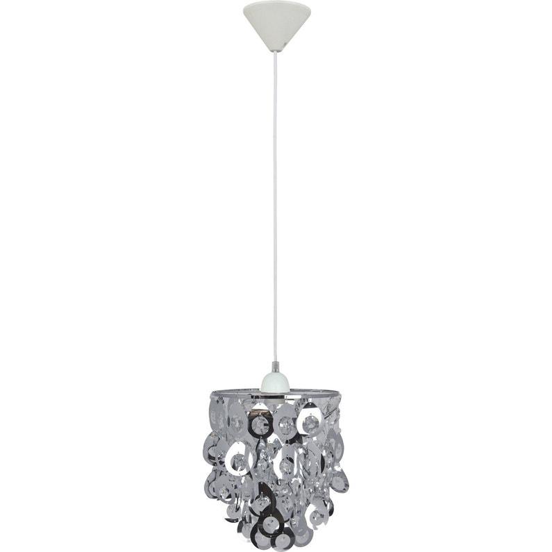 Suspension, e27 moderne Lamia plastique gris 1 x 60 W INSPIRE