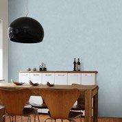 Papier peint intissé Beton mat bleu baltique n°5