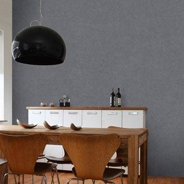 Papier peint intissé Beton mat gris zingué n°2