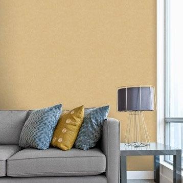 Papier peint intissé Beton mat orange