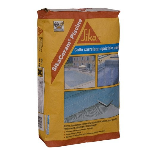 Mortier colle sika 25 kg leroy merlin for Sika enduit piscine