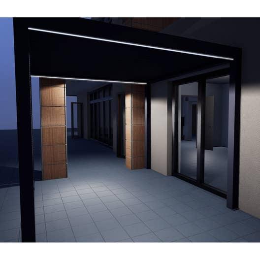 eclairage pour pergola orient gris aluminium leroy merlin. Black Bedroom Furniture Sets. Home Design Ideas