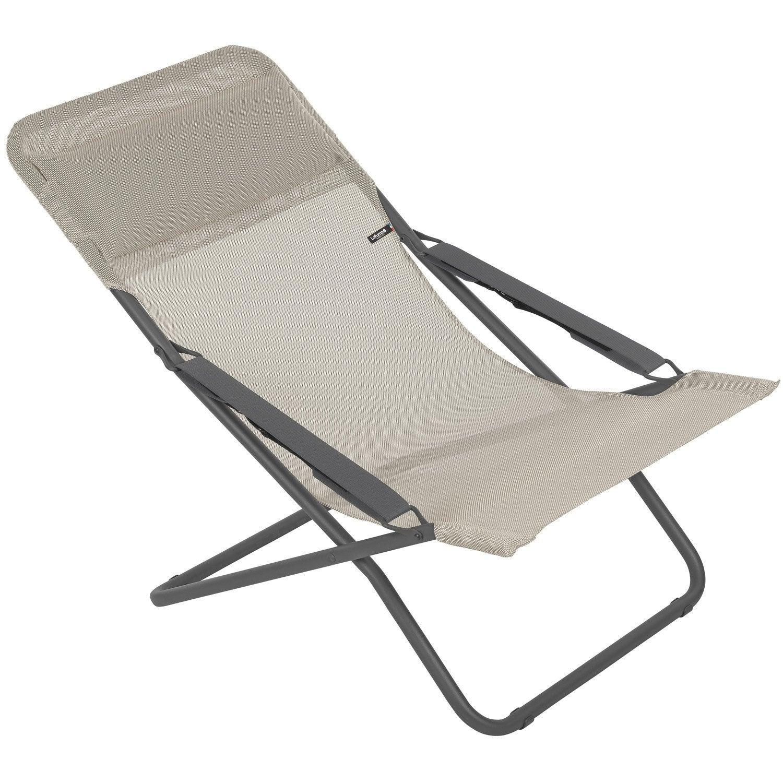 Transat chaise chaise transat design en crote de cuir for Transat de jardin castorama