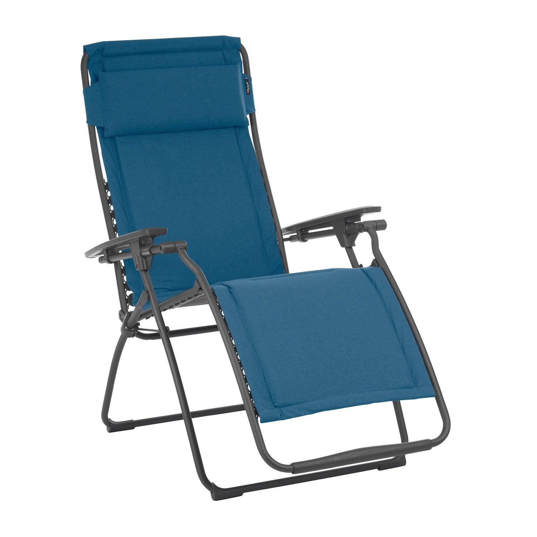 relax de jardin en acier futura matelass jeans leroy merlin. Black Bedroom Furniture Sets. Home Design Ideas
