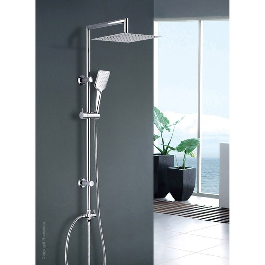 colonne de douche sans robinetterie rousseau otaki leroy merlin. Black Bedroom Furniture Sets. Home Design Ideas