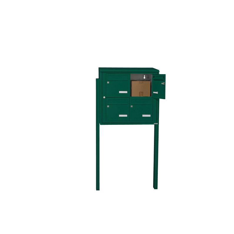 Boîte Aux Lettres Collective Extérieur Leaboxcom 2x2 Acier Vert Brillant