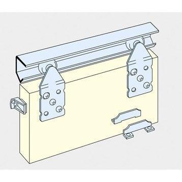Rails et accessoires pour porte de placard leroy merlin - Accessoire porte placard coulissante ...