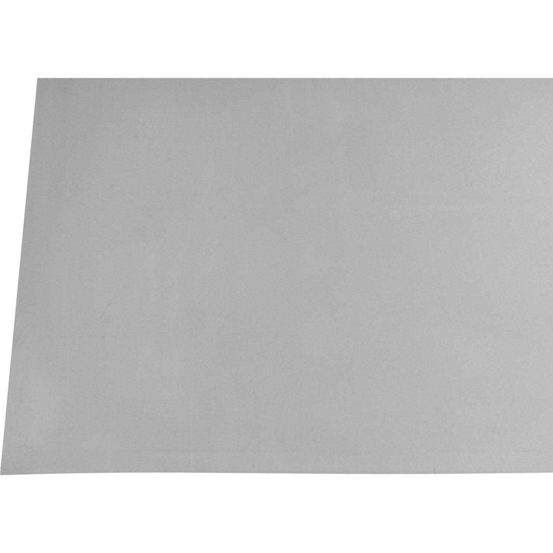 Feuille de zinc scover plus gris 2x1m leroy merlin for Tole en zinc pour toiture