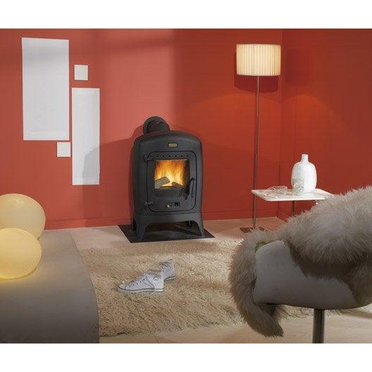 po le bois godin madras anthracite 9kw leroy merlin. Black Bedroom Furniture Sets. Home Design Ideas