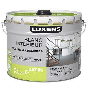 Peinture murs et plafonds s jour chambre luxens blanc satin 10l for Peinture murale lessivable