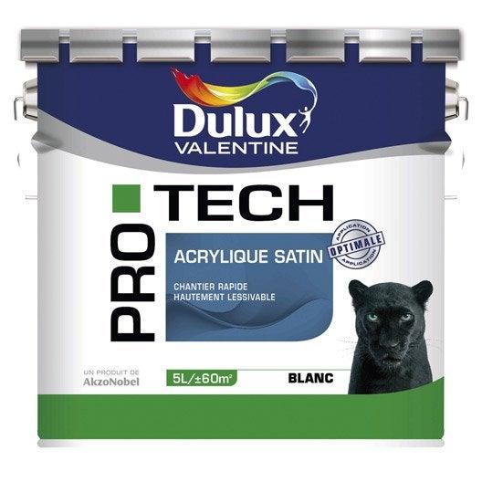 Peinture murs et plafonds DULUX VALENTINE Pro tech, satin, 5L | Leroy