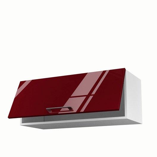 meuble de cuisine haut rouge 1 porte griotte x x cm leroy merlin. Black Bedroom Furniture Sets. Home Design Ideas