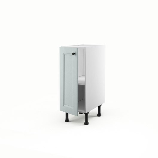 meuble de cuisine bas bleu 1 porte ashford x x cm leroy merlin. Black Bedroom Furniture Sets. Home Design Ideas