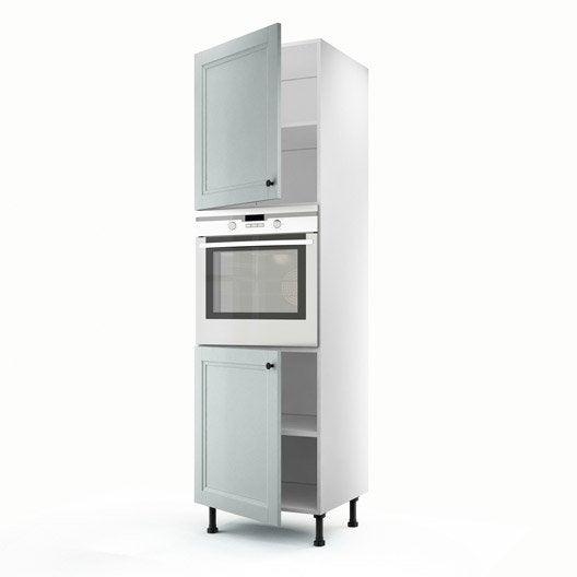 meuble de cuisine colonne bleu 2 portes ashford x x cm leroy merlin. Black Bedroom Furniture Sets. Home Design Ideas
